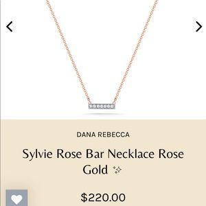 Dana Rebecca 16 inch rose gold bar necklace